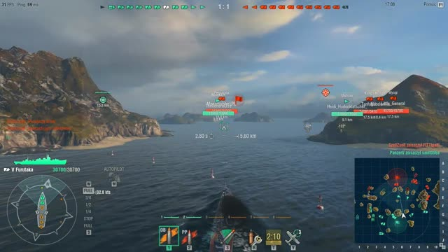 World of Warships Furutaka V tier