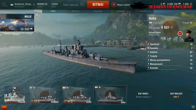 World of Warships bitwy rankingowe