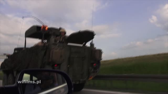 Army On The Motorway A4